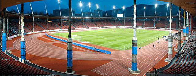 Stützpfeiler im Stadion Letzigrund Zürich