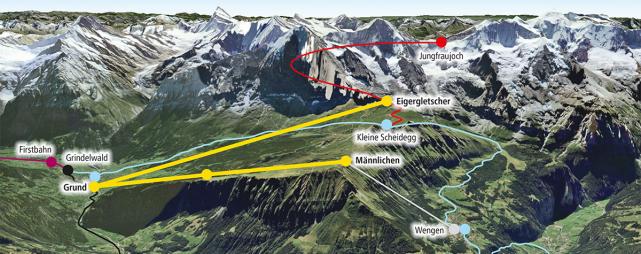 Jungfraubahnen: V-Bahn