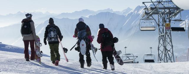 Snowboarder Weisse Arena