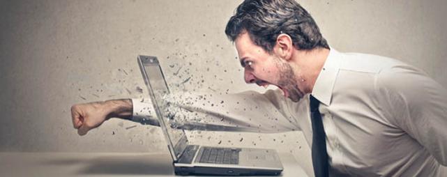 Ärger Wut Büro Stress