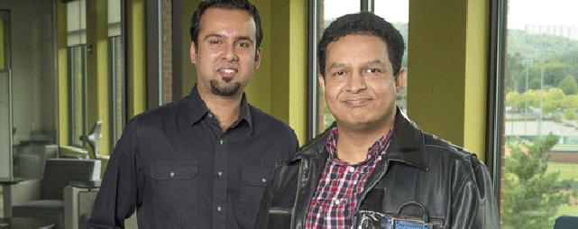 Forscher: Rasib Khan und Ragib Hasan, Letzterer mit Jacke. (Foto: UAB)