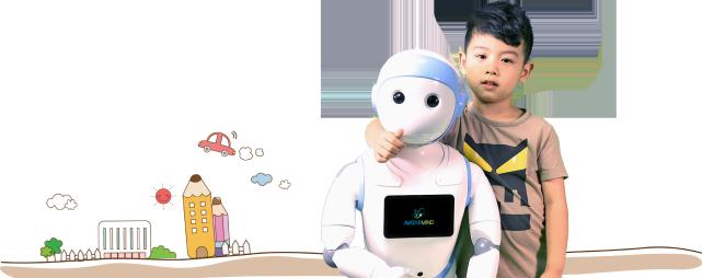 """Roboter """"iPal"""": Soll mehrere Stunden auf Kinder aufpassen. (Foto: avatarmind.com)"""