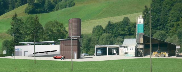 Die Visualisierung zeigt, wie die Kraftwerks-Zentrale im Chlusboden, Gemeinde Schüpfheim, dereinst aussehen könnte. (Bild: CKW)