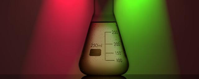 Messkolben: Forscher steuern Bakterien gezielt (Foto: Colourbox)